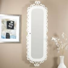 Wall Mirror Jewelry Armoire Wall Mounted Jewelry Cabinet Mirror Armoire With Gloss White