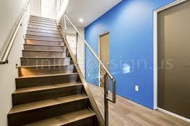 robert tx modern stainless steel cable and glass railing