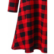 plaid christmas plaid christmas mini swing dress plaid xl in sleeve dresses