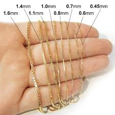 box chain gold necklace images 14k yellow gold 1 6mm box chain necklace 18 quot 20 quot 22 quot 24 quot 30 jpg