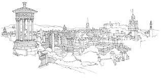 edinburgh skyline u2013 illustrated maps