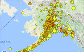 us map w alaska alaska earthquake center earthquakes in alaska
