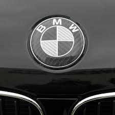 black and white bmw roundel carbon fiber roundels emblems