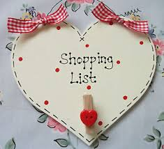 Shabby Chic Shopping by Shabby Chic Sign Shopping List Kitchen Any Colour Ebay