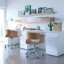Etagere Bureau Design Double Bureau Pour La Maison Blanc Et Bois Bureau Blanc Et Bois