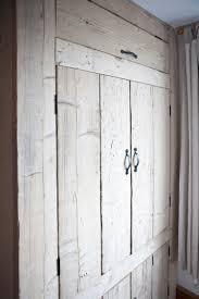 Bedroom Cupboard Doors Rustic Built In Bedroom Wardrobe Made From Reclaimed And