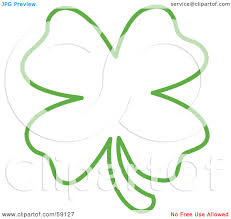 royalty free rf clipart illustration of a green lucky four leaf