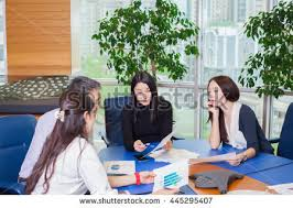 Flooring Business Plan Business Meeting Asian People Sitting Table Stock Photo 499458706