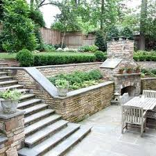 Terraced Patio Designs Backyard Landscaping Slope Best Sloped Backyard Landscaping Ideas
