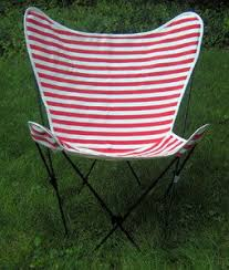Butterfly Patio Chair Cabana Stripe Butterfly Chair Replacement Covers
