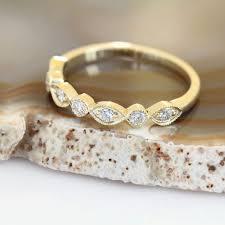 classic rings bands images Art deco wedding band yellow gold wedding band vintage wedding jpg