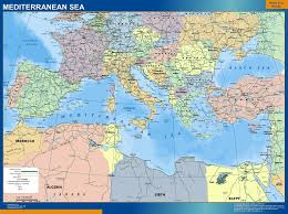 mediterranean map mediterranean sea countries wall map our cartographers made