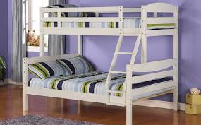 Bunk Bed For 3 Wood Twin Double Bunk Beds Bedroom Set Wood Bunk Bed U2013 White