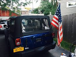 jeep american flag easy way to mount a american flag on your jeep wrangler jk