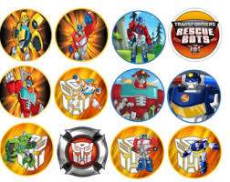 transformers cupcake toppers transformer cake toppers candy rescue bots etsy