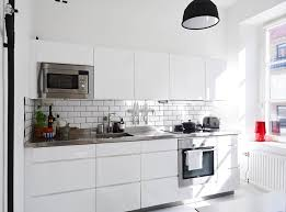 kitchen style subway tiles stainless steel countertop briliant