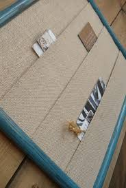 frame and burlap wall organizer divider pockets to organize