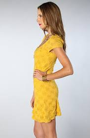 free people the daisy godet dress in mustard karmaloop com