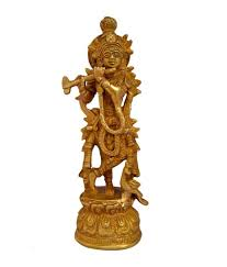 aakrati lord krishna brass idol for home decor and temple buy