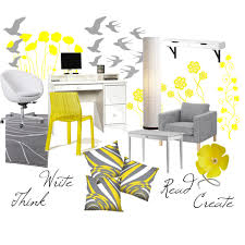 Gray And Yellow Chair Design Ideas Gray And Yellow Office By Alexisanne On Polyvore Made