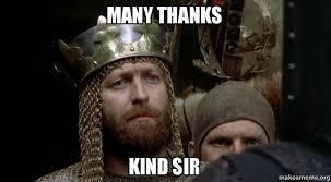 Kind Meme - many thanks kind sir make a meme