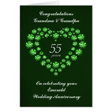 wedding anniversary cards emerald wedding anniversary cards invitations zazzle co uk
