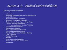 effective medical device validation introduction manual advance