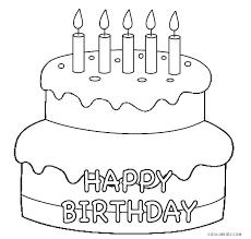 free printable birthday cake banner cake coloring picture coloring page of a birthday cake wedding cake