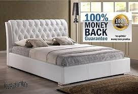 Modern Tufted Headboard by Faux Leather Tufted Headboard Platform Bed White Modern