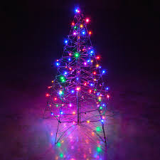 small christmas tree with led lights colored and white