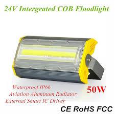 smart outdoor flood light 50w waterproof flip cob led flood light ac110v 220v 24v high