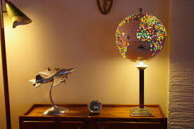 World Globe Light Fixture by Stunning Handmade World Globe Decorative Desk Reading Lamp