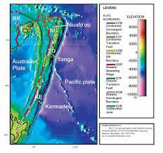 Tonga Map Kermadec Tonga U0026 Niuafo U0027ou Plates Southwest Pacific Plates