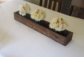 wood planter box centerpieces ghost study