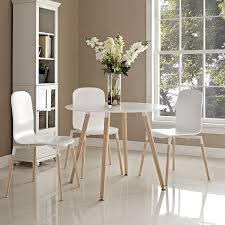 White Wood Dining Room Table by Amazon Com Modway Track Circular Dining Table In White Tables