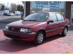 1992 medium red pearl metallic toyota tercel dx sedan 27993170
