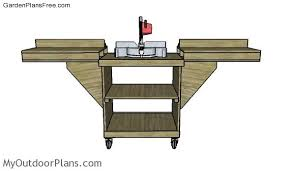 diy miter saw folding table free garden plans how to build