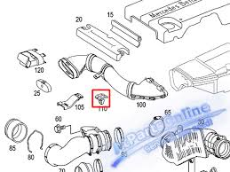 mercedes part catalog radiator covering fastener mercedes w202 w210 c220 for sale
