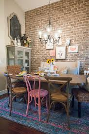 best 25 eclectic dining rooms ideas on pinterest eclectic the black goose design blog eclectic dining room with exposed brick wall mismatched chairs