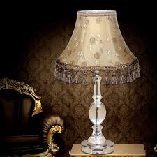 square crystal table lamp shades come with chrome table lamp pipe