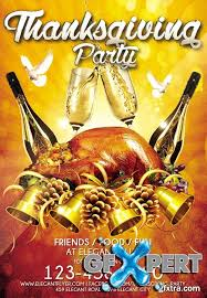 free thanksgiving flyer psd template