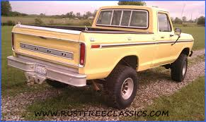 Ford F 150 Yellow Truck - 1977 f150 swb ford ranger 4x4 short bed yellow
