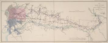 map of the new river from its source near the town of ware to london