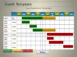gantt chart template powerpoint 2013 casseh info