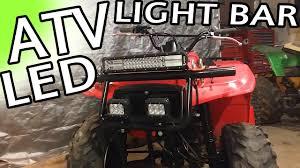 Four Wheeler Light Bar Atv Led Light Bar Youtube