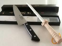 honing kitchen knives mac knife chef series hb85 mac 9 6 white ceramic honing rod sr85