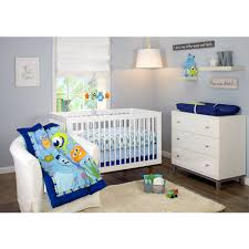 Walmart Baby Nursery Furniture Sets Disney Monsters On The Go 4 Crib Bedding Set Walmart