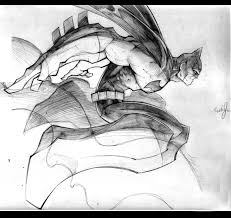 batman pencil sketch by keithanknows on deviantart