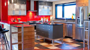 flooring elegant gray kitchen island with cozy marmoleum and red elegant gray kitchen island with cozy marmoleum and red tile backsplash for your kitchen design