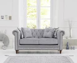 Grey Fabric Chesterfield Sofa by Milano Chesterfield Grey Fabric 2 Seater Sofa The Great